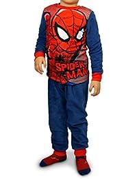 1732 Pijama de terciopelo para niños con motivo de Spiderman (4 a 8 ...