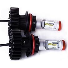 Lámparas de Bombillas 160W 12000LM 9004 9007 H4 H13 LED Bombillas para coches H1 H3 H7 H8 H9 H11 H10 HB3 HB4 880 881 Luz blanca, luz amarilla H16