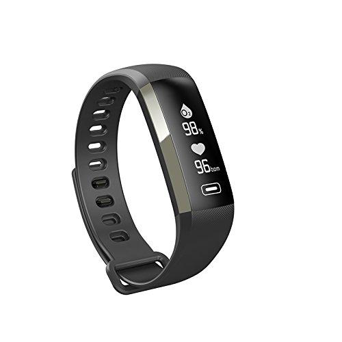 WMWMY Herzfrequenz mit M2 Smart Blut Sauerstoff Pulsoximeter Sports Tracker Sport Armband Für Ios-Smart Android Smart Clock, Schwarz