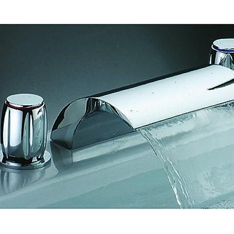 finitura cromata cascata lavandino rubinetto del bagno (diffusa)