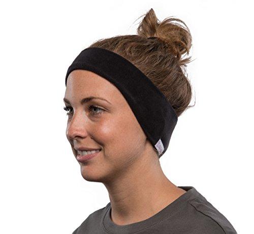 AcousticSheep SleepPhones Kabellos Bluetooth Stirnband-Schlaf-Kopfhörer - Vlies, schwarz, groß