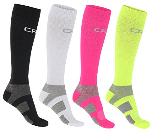 Compression Socks for Men and Women, Lightweight Materials, Ankle and Arch Support, Flat Toe Seams, Perfect for Running, Cycling, Sports, Recovery, Travel, Nurses, Pregnancy, European Quality