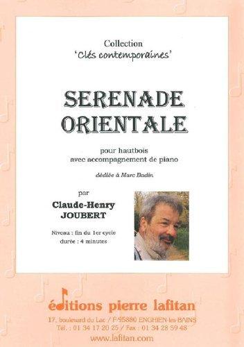 PARTITIONS CLASSIQUE LAFITAN JOUBERT CLAUDE HENRY   SERENADE ORIENTALE   HAUTBOIS ET PIANO HAUTBOIS