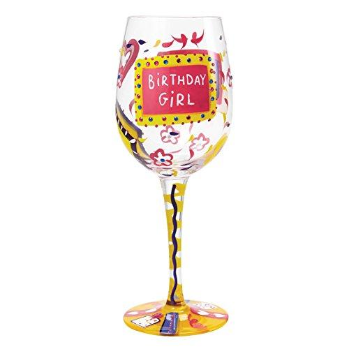 Unbekannt Lolita GLS11-5530R Birthday Girl Wine Glass, Glas, mehrfarbig, 8.5 x 8.5 x 22.5 cm