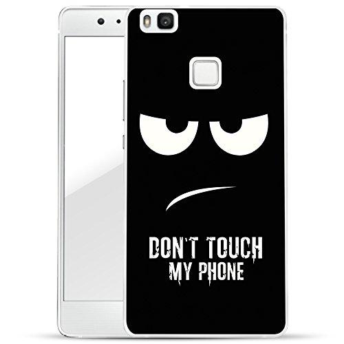 finoo | Huawei P9 Lite Hard Case Handy-Hülle mit Motiv | dünne stoßfeste Schutz-Cover Tasche in Premium Qualität | Premium Case für Dein Smartphone| Don't touch my phone (Coverage Touch Body Full)