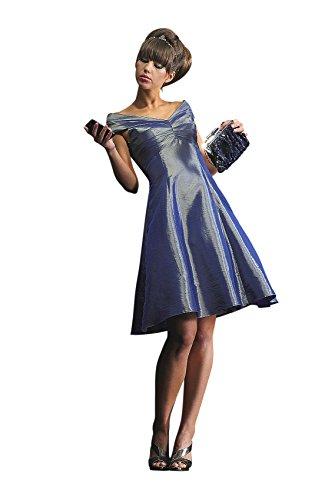 Abendkleid / Cocktailkleid, metalic grau Silber