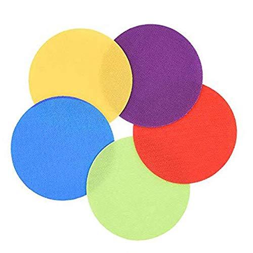 Innersetting 30pcs 5 Farben-Sitzen-Aufkleber-Flacher Punkt-Markierungs-Klassen-Kinder, die Umbau ausbilden