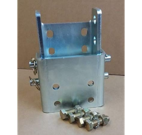 """Zinc Coated Towbar Drop Plate 4/"""" inches with 6 holes"""