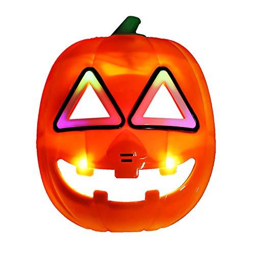SJZC Maske Halloween Cosplay Beleuchten Masken Karikatur Prop Lustig Kind Spielzeug,Pumpkin