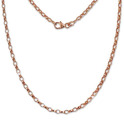 SilberDream oval Halskette rose 70cm Erbskette 925 Silber vergoldet SDK26070E Oval Rose