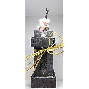 Deko Glasvase im Holzrahmen mit einer Seidenorchidee. Als nettes Geschenk oder zur Dekoration. Zum Muttertag eine schöne…