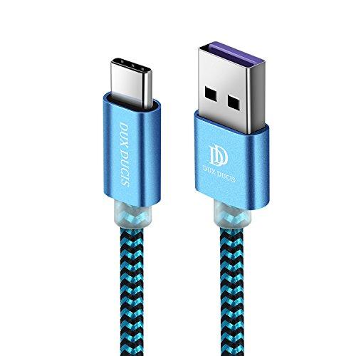 DUX DUCIS Huawei P20 Kabel,P20 Pro Kabel,P20 Lite Kabel, Type C Super Charger [5V/4.5A]/Fast Charger [9V/2A] USB C Durable Nylon [1M] Ladekabel für Huawei All Type C Devices (Blau)