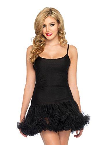 Leg Avenue 83609 - Petticoat Kleid Schwarz Damen Karneval Kostüm Fasching, S/M (EUR 36-38) (Italienischer Wolle Rock)