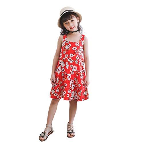 Generic JERFER Babykleider MäDchen Chirdren Princess Belle Print ärmellose Kleider Kostüm (Belle Kostüm Übergröße)