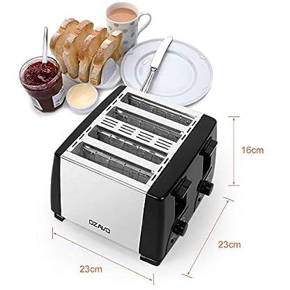 OZAVO-Toaster-4er-Edelstahl-4-Scheiben-1300-Watt-Brtchen-Toaster-mit-Abnehmbarer-Krmelschublade-6-Brunungsstufen-Silber
