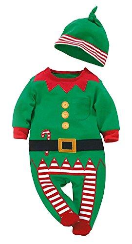 happyquda Hot Sale Baby Weihnachten Kleidung Anzug Weihnachten Kostüm für Baby Jungen Mädchen Overall klettern Kleidung strampelanzug Hose 2pc Sets (Kostüme Für Babys Jungen)