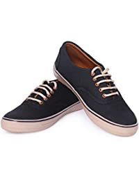 Mykon Black Lace-up Casual Shoes For Mens