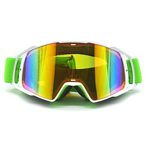 WENDAN Brille Skifahren Reiten Motocross-Brille Winddicht Retro-Brille Motorrad Mountainbike Fahrrad Langlauf-Skibrille, D