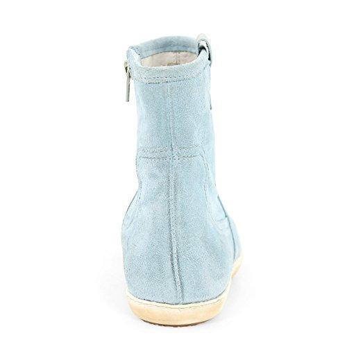 JJ Footwear Damen Stiefeletten Suede Panama Normal Wasserblau Suede