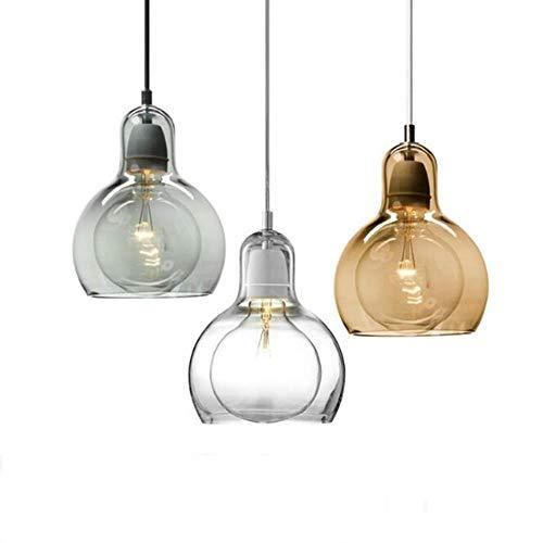 Pendelleuchte Edison-Birnen-Kunst-Schlafzimmer-Stab-Licht des nordischen einfachen Art-Glasesszimmers Freies Verschiffen, GRÜN, RAUCH-GLAS