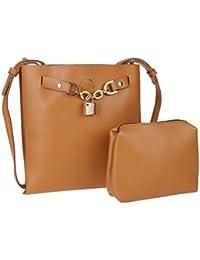 Fur Jaden Women's Sling Bag With Pouch(Brown,H256_Tan)