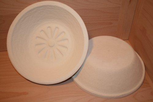 Gärkorb Brotform Holzschliff für 1,0 kg Teiggewicht rund Sonne incl. Profirezepte (Brot Backen Ofen)