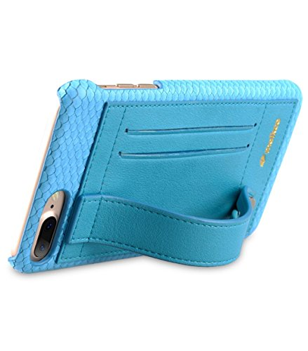 Apple Iphone 7 Melkco Elite-Serie Premium Leder-Snap zurück Tasche Tasche mit Premium-Leder Handgefertigte gute Schutz, Premium Feel-Tan Sky Blue 1