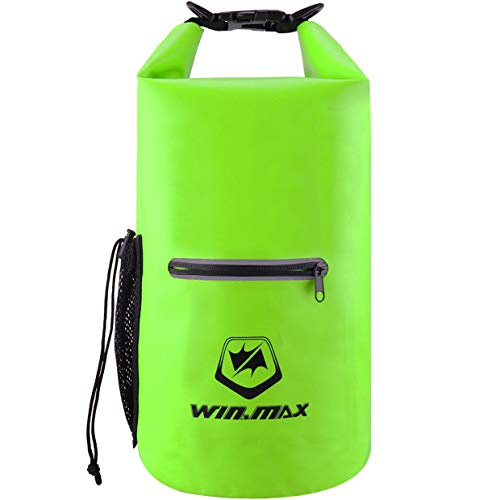 WIN.MAX Dry Bag 5L 10L 15L 20L 30L wasserdichte Tasche Wasserdichter Packsack Beutel f¨¹r Ruder Boot Kajak Rafting Angeln Camping Snowboarden (Springgrün, 30L) -