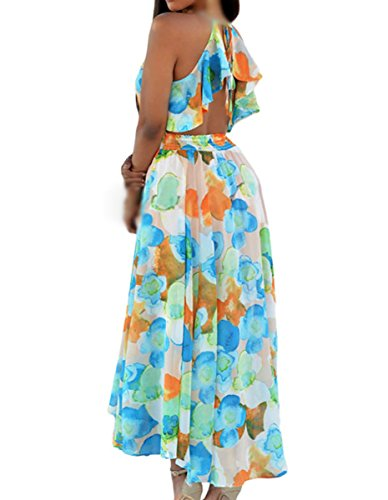 Dissa DSY60953 femme Robe maxi cocktail Multicolore