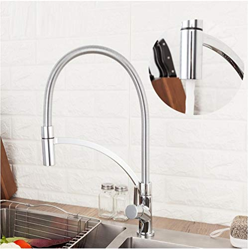 Wasserhahn Kitchen Faucets Brass Faucets for Kitchen Sink Single Lever Pull Down Spout Mixers Tap Hot Cold Water Crane -