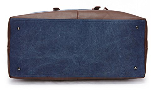 Wealsex Unisex Reisetasche Canvas hohe Kapazität handgepäck 54/33/24cm Blau
