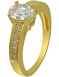 Much More 18k Gold Plated American Diamond Fashion Ring For Women & Girls Jewelry