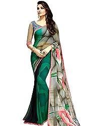 Vivera Women's Georgette Saree (VRSANSKAR_RAMA_RamaFree Size)