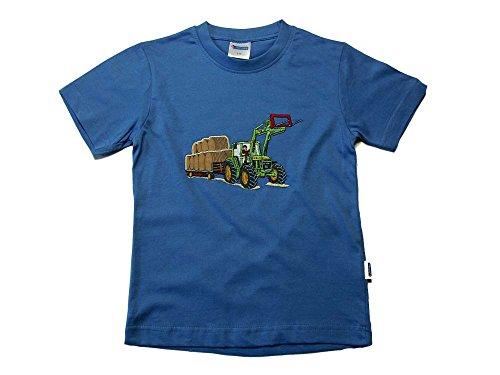 Zintgraf OEKO-TEX® T-Shirt Traktor Rundballen T22 (110, Azur)