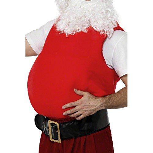 Amakando Dicker Weihnachtsmann Bauch XXL Weihnachtsmannbauch Nikolaus Fat Suit Santa Claus Bauchkissen Weihnachtskostüm Zubehör Weihnachten Kostüm Accessoire