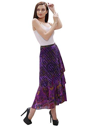 Aakriti Gallery Damen Wickel Rock Violett