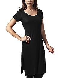 Urban Classics Ladies Side Slit Viscose Long Tee, T-Shirt Femme, Bordeaux, X-Small