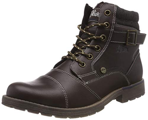 s.Oliver Herren 16209-21 Combat Boots, Braun (Dark Brown 302), 45 EU