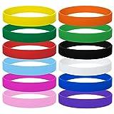 GOGO Silikon-Armbänder für Kinder, Gummi-Armbänder, Partyzubehör, 12 Stück Einheitsgröße Sortiert
