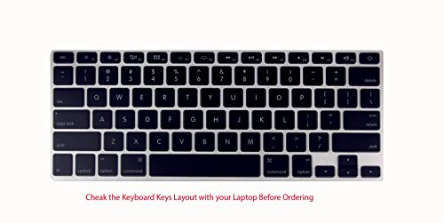 Saco Chiclet Keyboard Skin for Apple Macbook Pro Intel Core i7 - 15.4 inch -Black with Clear  available at amazon for Rs.355