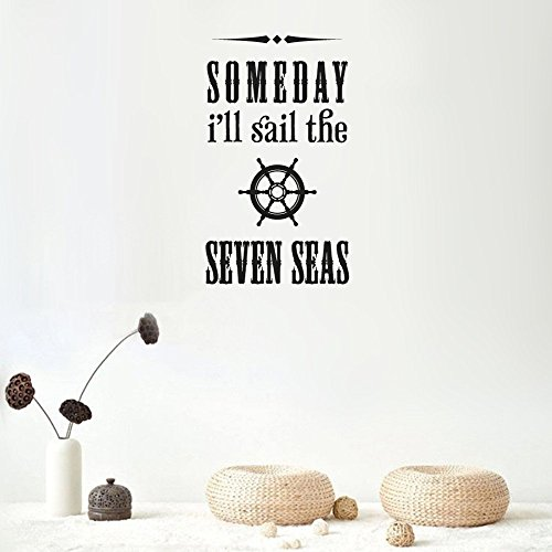 Stickers Muraux Decor Stickers Walls Art Words Phrasess Lettering I'Ll Sail The Seven Seas