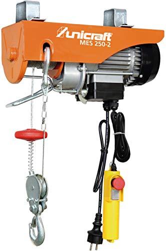 Stürmer Unicraft 6198225 Mini Elektro-Seilzug MES 250-2 (mit Umlenkrolle, Not-Aus Schalter, Hubhöhe 6m / 12 m)