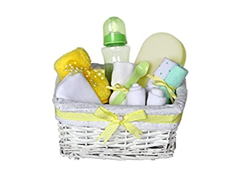 Grace Neutral Baby Gift Basket / Yellow Baby Hamper / Neutra Baby Shower Gift / New Arrival Gift Ideas / FAST