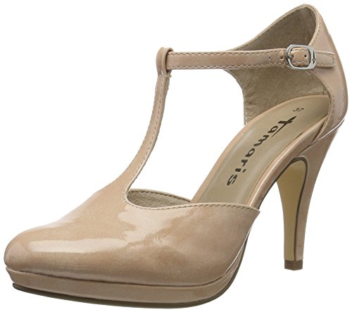 Tamaris Damen 24428 Pumps, Pink (Rose PATENT 575), 41 EU Patent Stiletto Pump