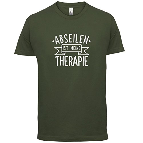 Abseilen ist meine Therapie - Herren T-Shirt - 13 Farben Olivgrün