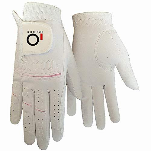 Finger Ten 1 Paar Damen Mikrofaser Golf handschuh Regen Damenhandschuh Beide Hand Nass heiß cool Griff Alles Wetter Haltbarkeit Weicher Komfort Größe XS Klein Mittel Groß XL