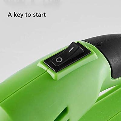 HCXJA Hand Powered Blatt Gebläse Schnee-Gebläse elektrische Batterie und Ladegerät im Lieferumfang enthalten Leichtgewichtler Multi-Purpose High Performance für Rasen-Garten-Blatt & Schnee-Reinig.