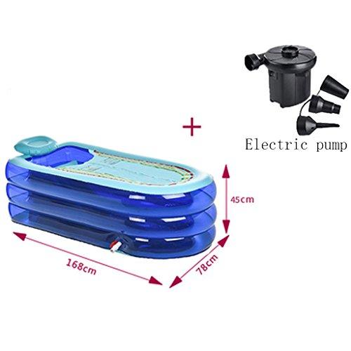 LXF Vasca da bagno gonfiabile Tubo vasca da bagno pieghevole per vasca da bagno pieghevole per vasca da bagno gonfiabile Viaggi Portable ( Colore : Blu )