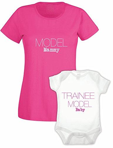 Bullshirt Bullshirt's Ladies Model T'shirt & Babygrow Double Pack