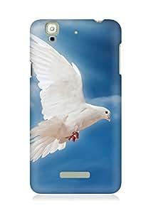 Amez designer printed 3d premium high quality back case cover for YU Yureka (Dove Peace Sky Pigeon White)